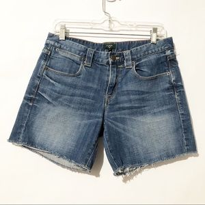 J.Crew Stretch Raw Hem Denim Shorts Size 4